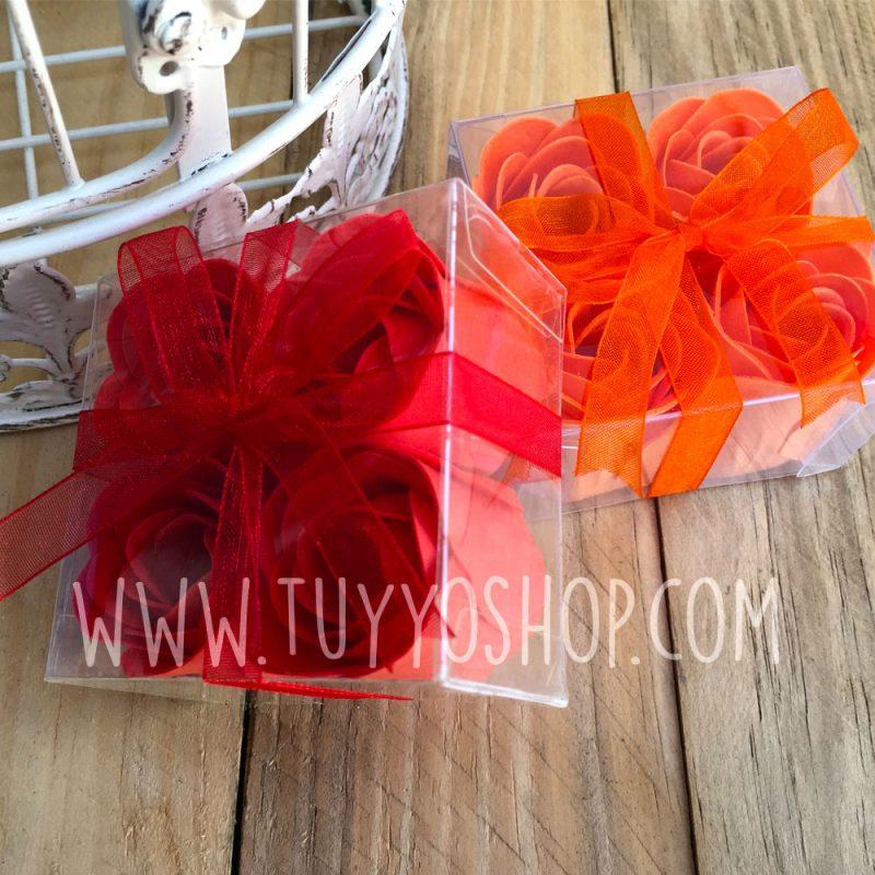 4 flores jabon estuche