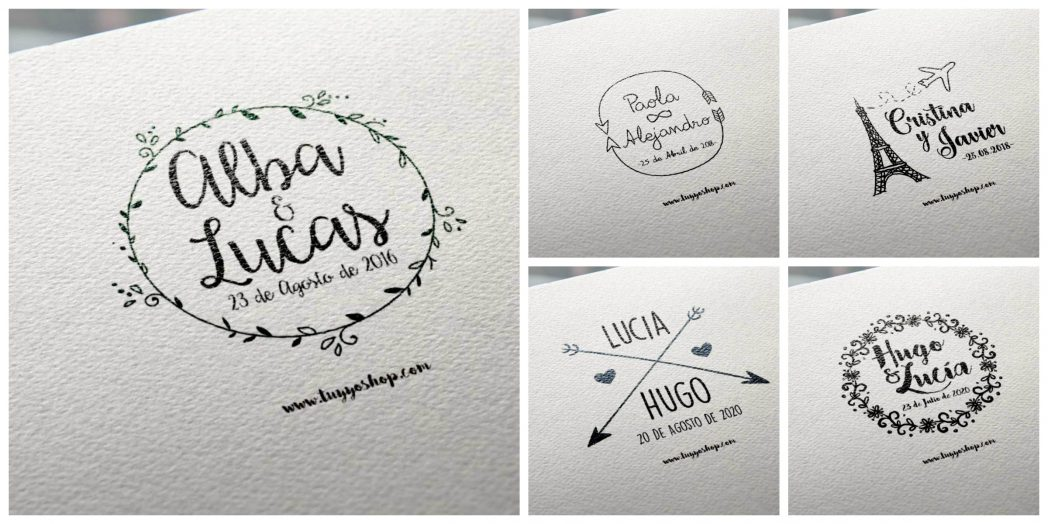 sellos de boda personalizados collage