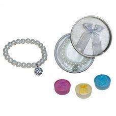 Pulsera perlas con llamador + cajita de regalo