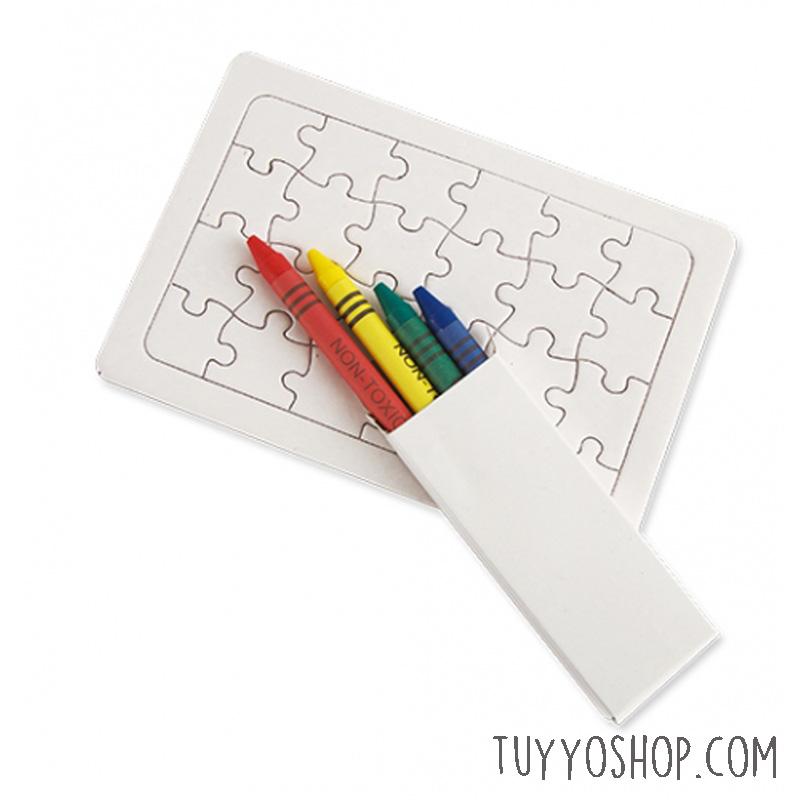 Puzzle infantil para colorear