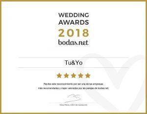 Por segundo año consecutivo, recibimos el galardón a mejor empresa de detalles de boda