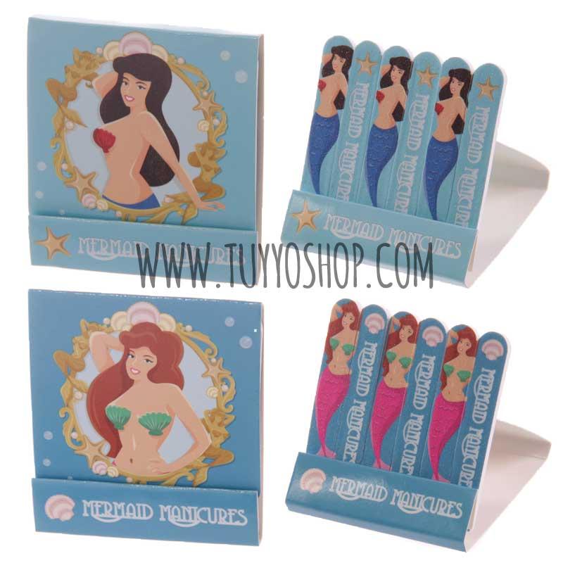 Mini limas de uñas en caja de cerillas Sirena