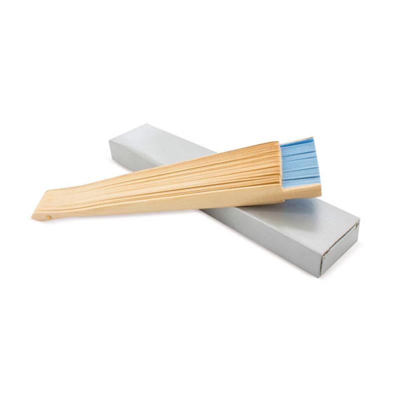 Abanico de madera lacada. 3 colores. 23cm. abanico con varillas lacadas cj