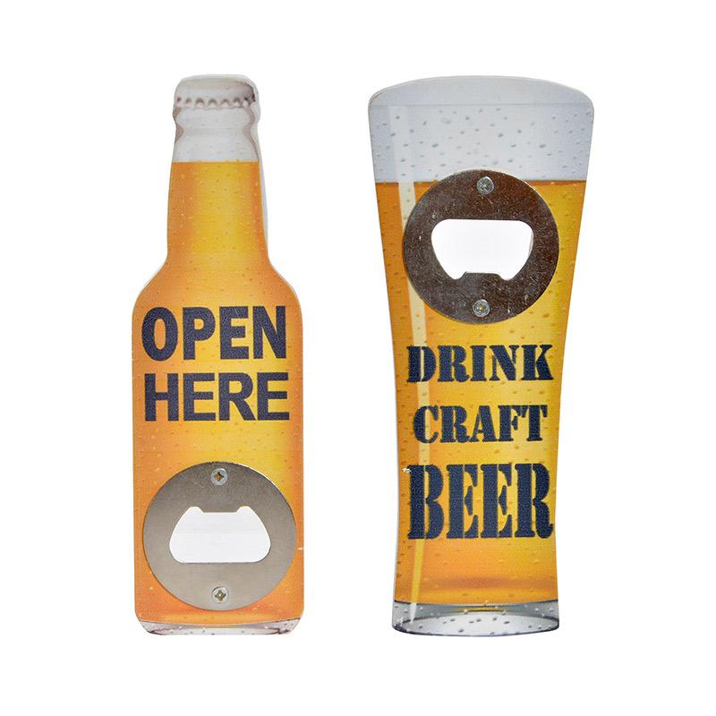Abrebotellas para regalo. Modelo beer. 2 modelos. 6x15,5cm