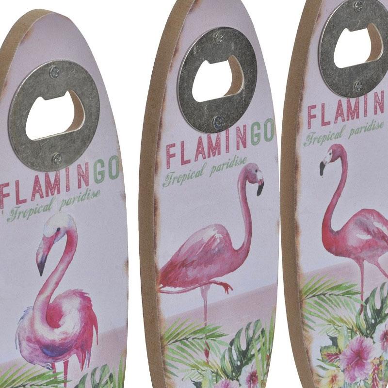 Abrebotellas de madera. Modelo Flamingos. 4 modelos. 7x20cm