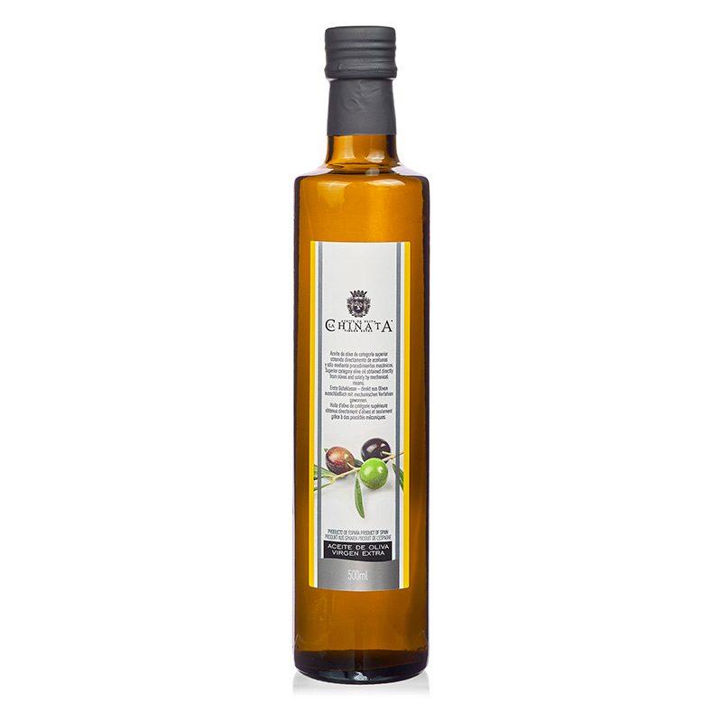 Botella aceite Oliva Virgen Extra. Cristal. 500ml.