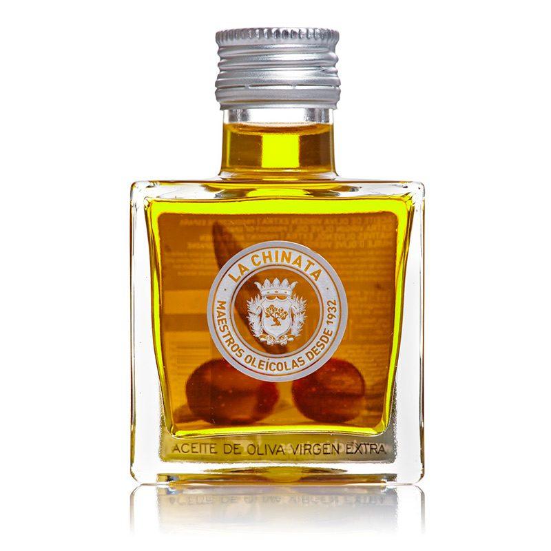 Botella aceite Oliva Virgen Extra. Cristal. Cuadrada. 100ml
