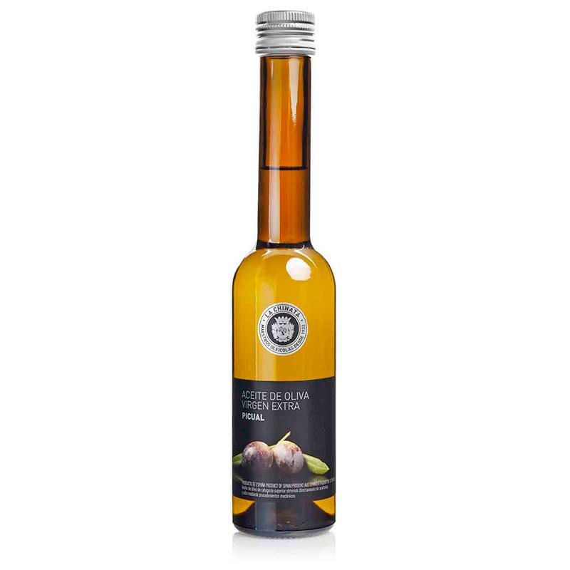 Botella de aceite monovarietal. AOVE. Picual. 250ml