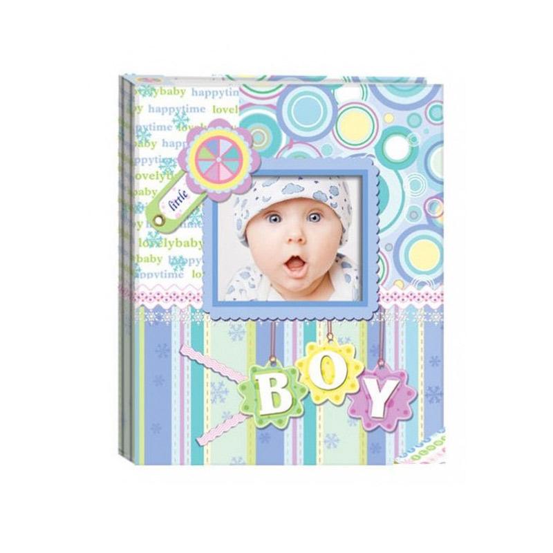 Album para bautizo, personalizable con foto. Color azul.