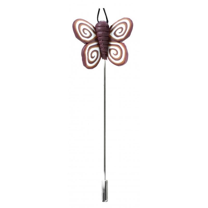 Alfiler para boda modelo mariposa fimo