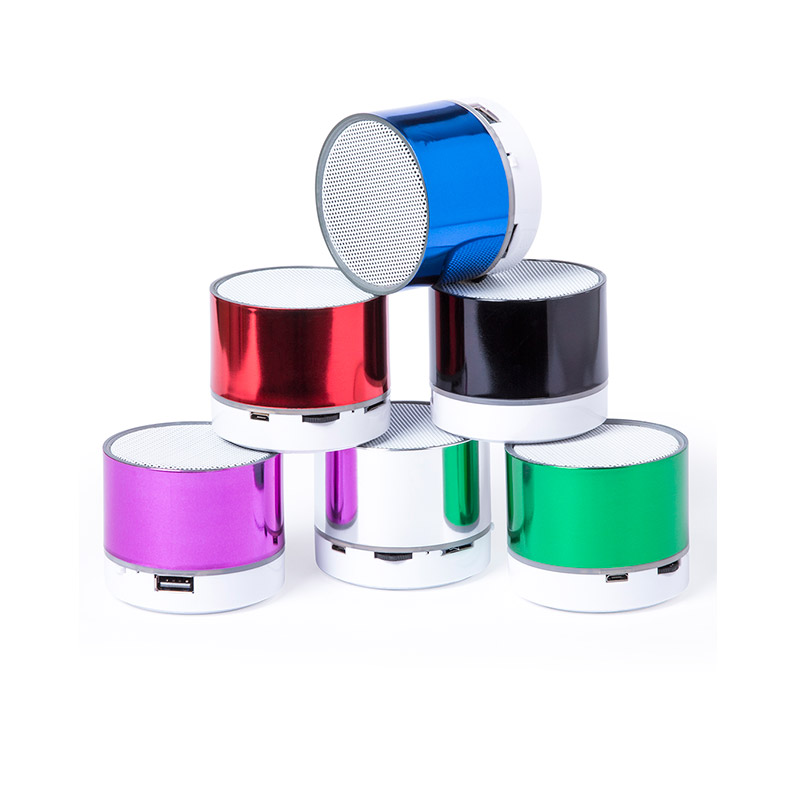Altavoz para boda. Bluetooth. Batería recargable. Led. Micro Sd. Radio Fm. 7 colores
