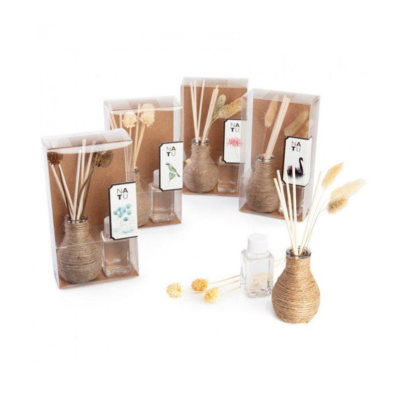 Ambientador para regalo de boda. Modelo cuerda natural. 4 aromas. 30ml.