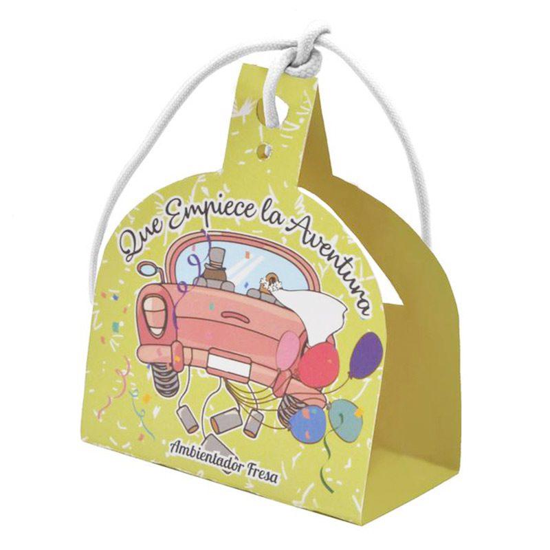 Ultimos regalos para invitados añadidos ambientador para coche 8ml modelo aventura fresas