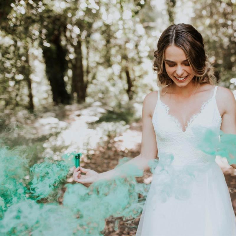 Antorchas de humo para boda