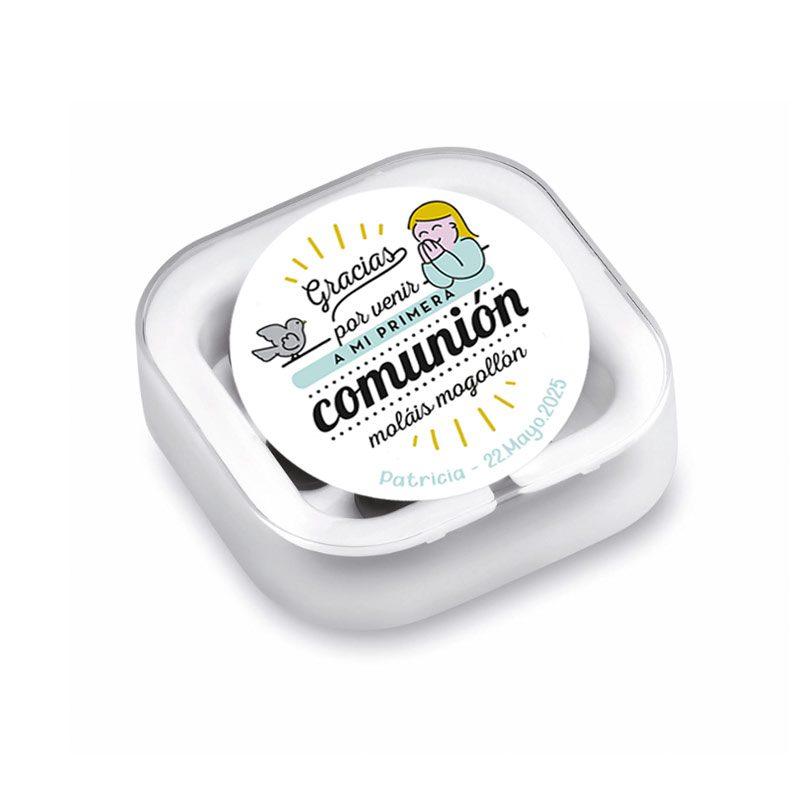 Auriculares para regalar en comunión, modelo Paloma auriculares detalle de comunion paloma negro