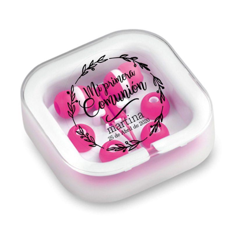 Auriculares para comunión personalizados. Primera comunión. Varios colores.