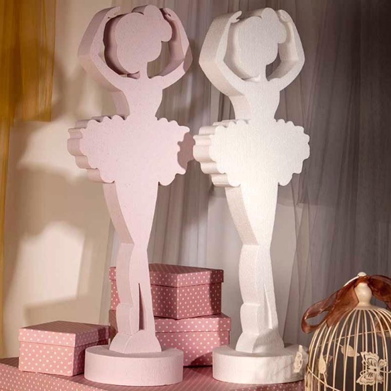 Ultimos regalos para invitados añadidos bailarina porexpan blanco