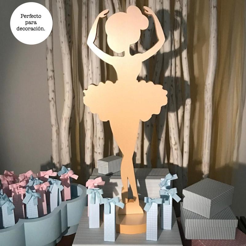 Ultimos regalos para invitados añadidos bailarina porexpan color crema