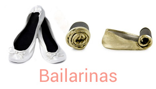 Bailarinas plegables para boda