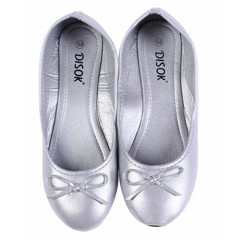 Bailarinas para boda en color plata