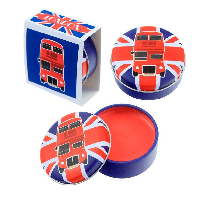 Brillo labial en latita. Modelo Londres. 4 modelos.
