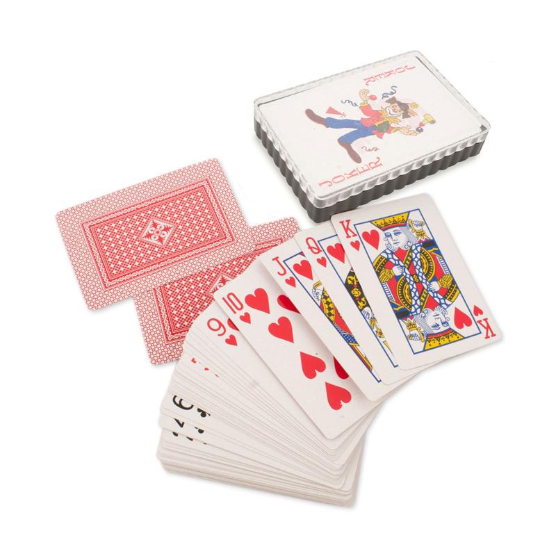 Baraja de cartas de poker para regalar. En caja de pvc.