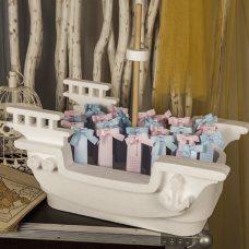 Barco pirata para dar los regalos de comunión