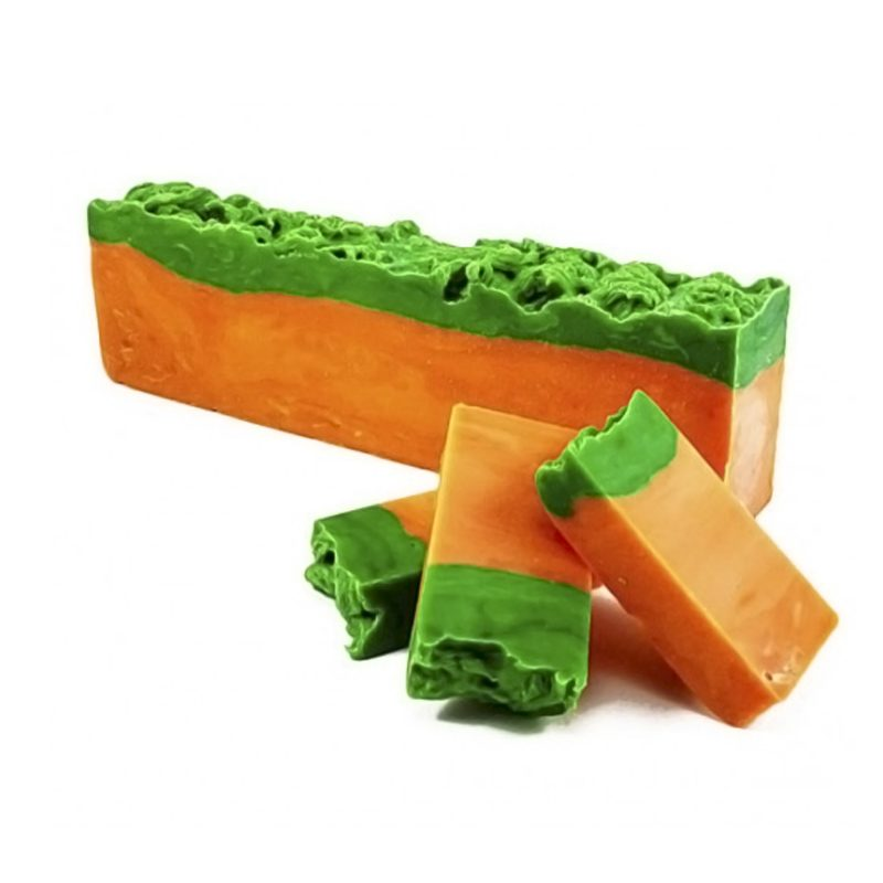 Jabón artesano en barra de papaya