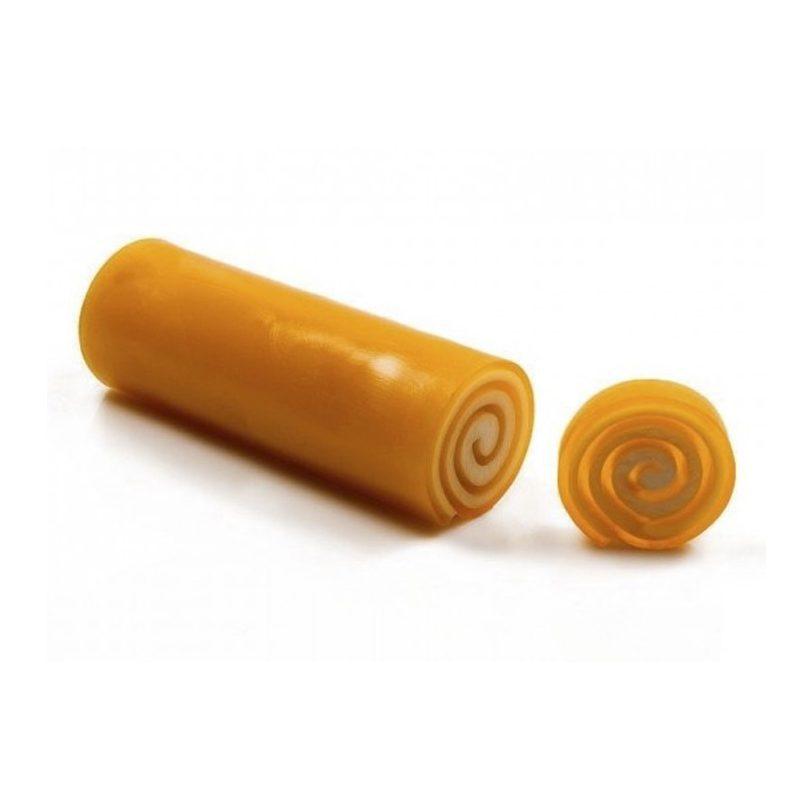 Jabón de glicerina enrollado en barra, caléndula