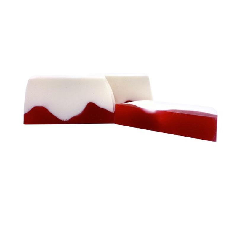 Barra de jabón de glicerina, arándanos rojos