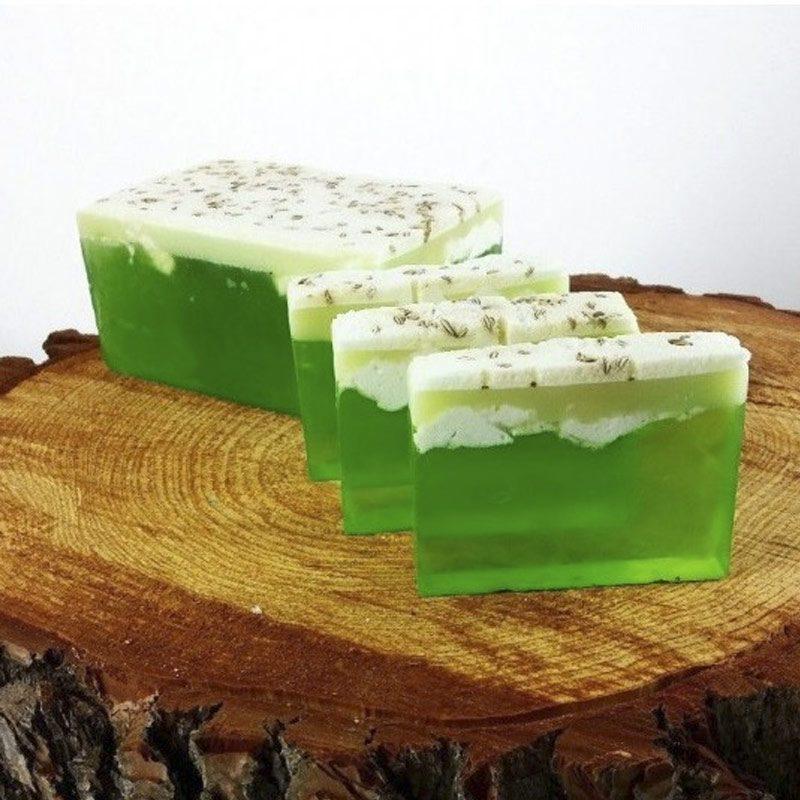 Barra de jabón glicerina batida con aroma a lima limón
