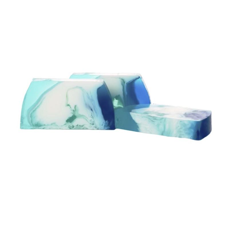 Barra de jabón glicerina, blue diamond