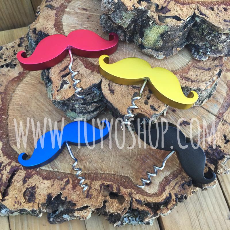 sacacorchos y abrebotellas mostacho