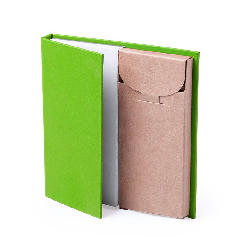 Bloc de Notas con caja de Lápices. 4 colores. bloc de notas con caja de lapices detalles de boda6