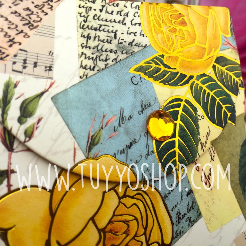 bloc de notas estampado floral