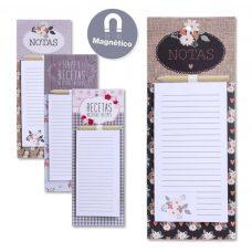 Bloc notas con imán y lápiz. Flower. 4 modelos