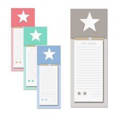 Bloc notas con imán y lápiz. Star. 4 modelos