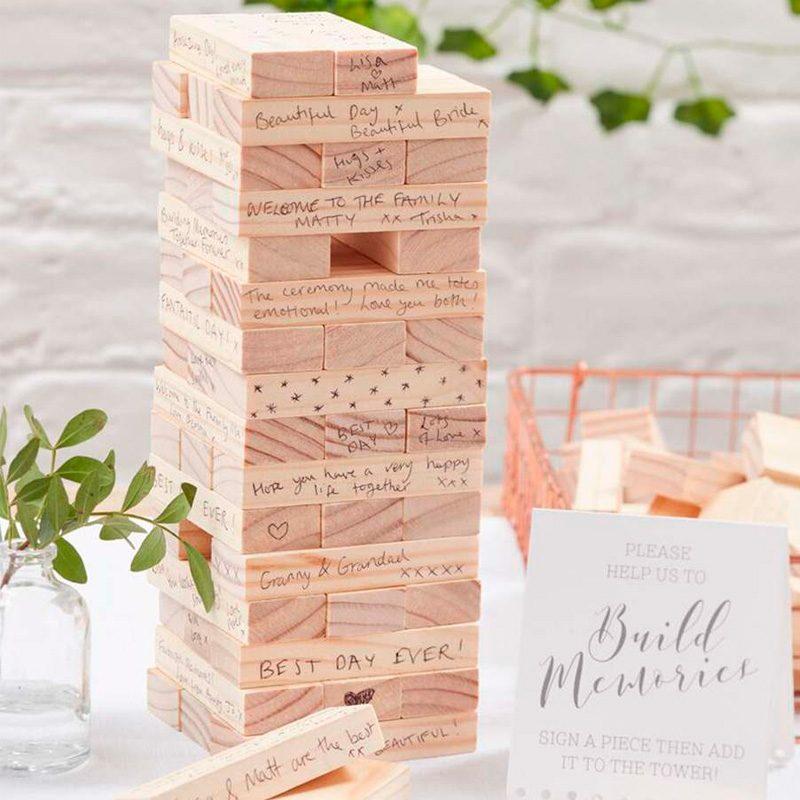 Bloques, construye tu recuerdo de boda. 72 piezas