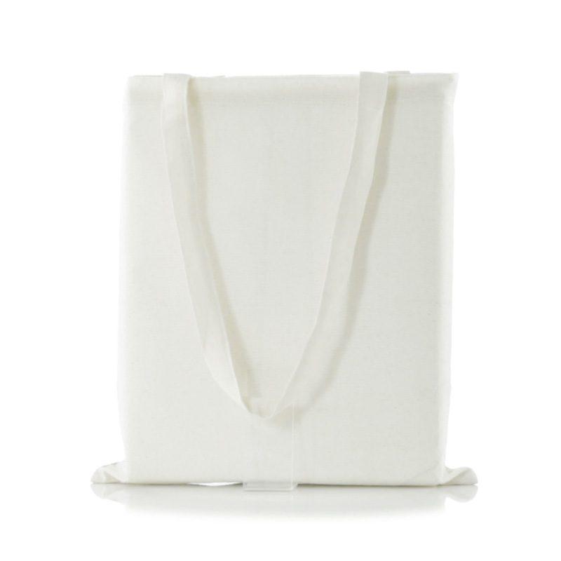 Bolsa ecológica bicolor de yute y algodón. bolsa con asas ecologica para boda 3