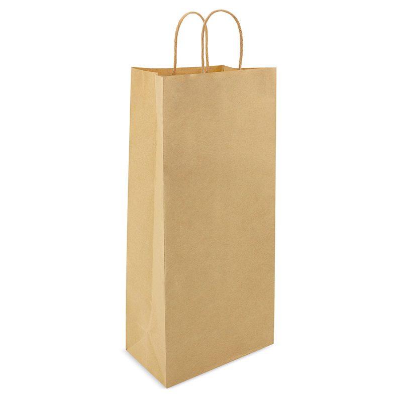 Bolsa de papel para regalo. Kraft. Asa pequeña. 39x18x8 bolsa de papel para regalo tower
