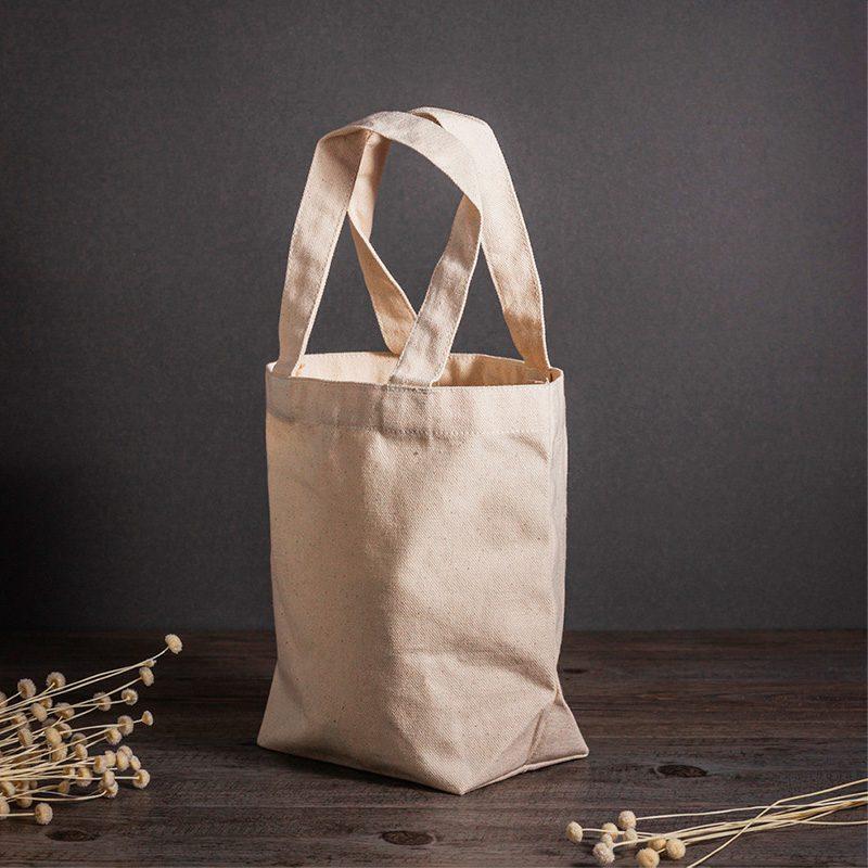 Bolsa de algodón ecológico, cinta interior, modelo Pampa, 26x17cm bolsa ecologica bodas modelo pampa2