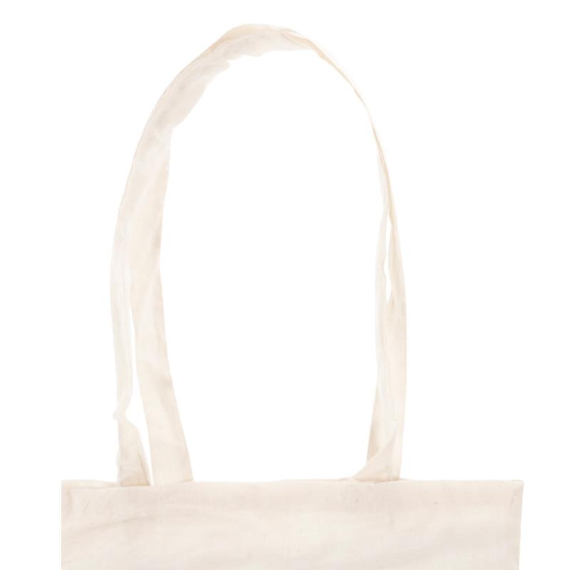 Bolsa 100% algodón. En color natural. Asas largas. 70cm bolsa ecologica para regalo de boda 3