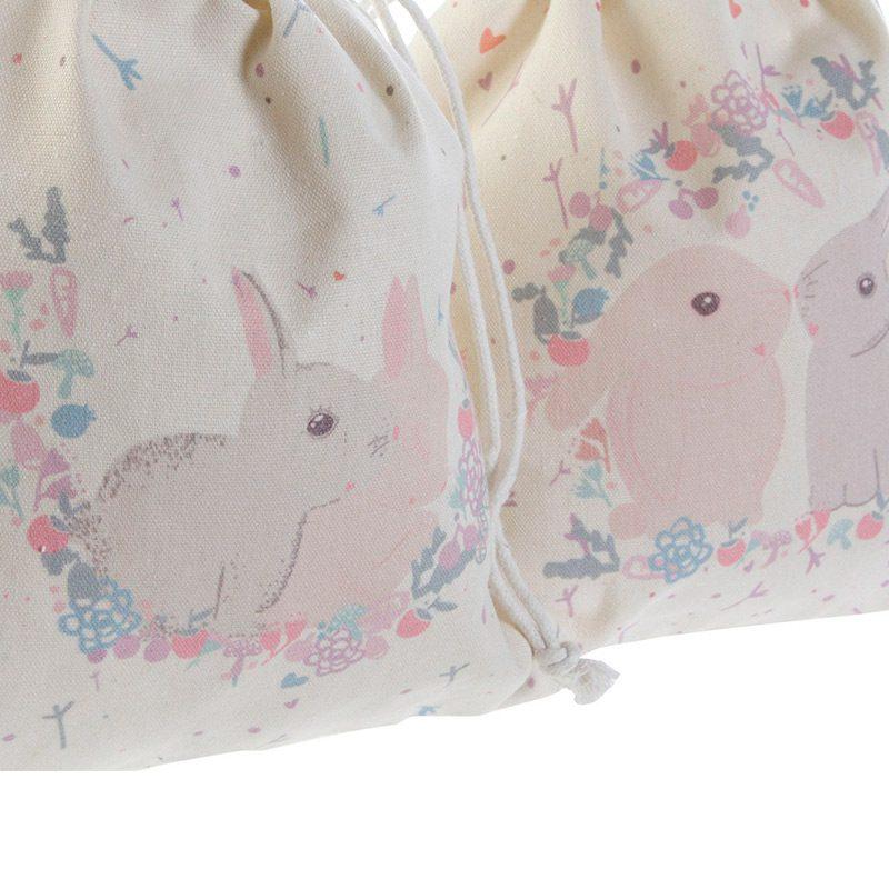 Bolsa merienda infantil. Modelo Rabbits. 24x26cm