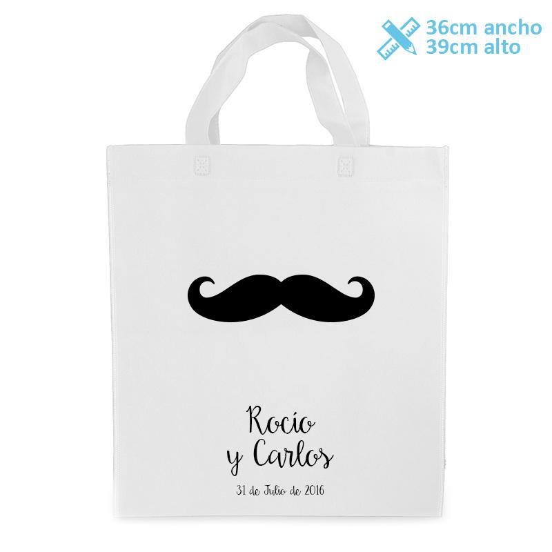 Bolsa personalizada para boda modelo bigote