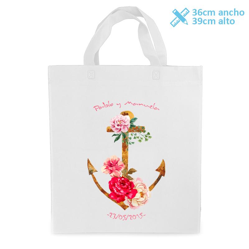 Bolsa personalizada para boda modelo flower anchor