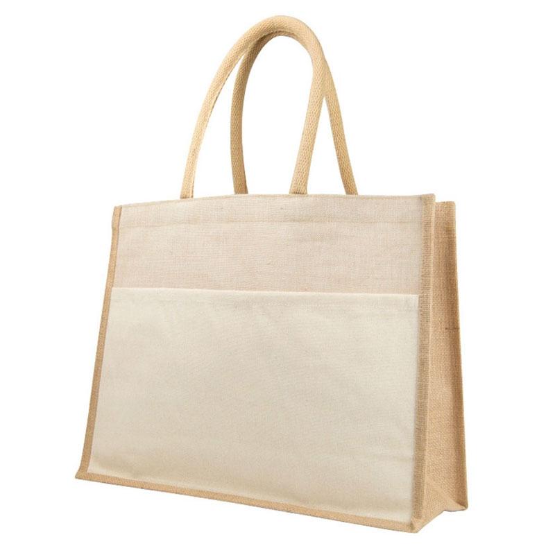 Exclusiva bolsa de juco. Con asas. Modelo córdoba. 44,5x15x34