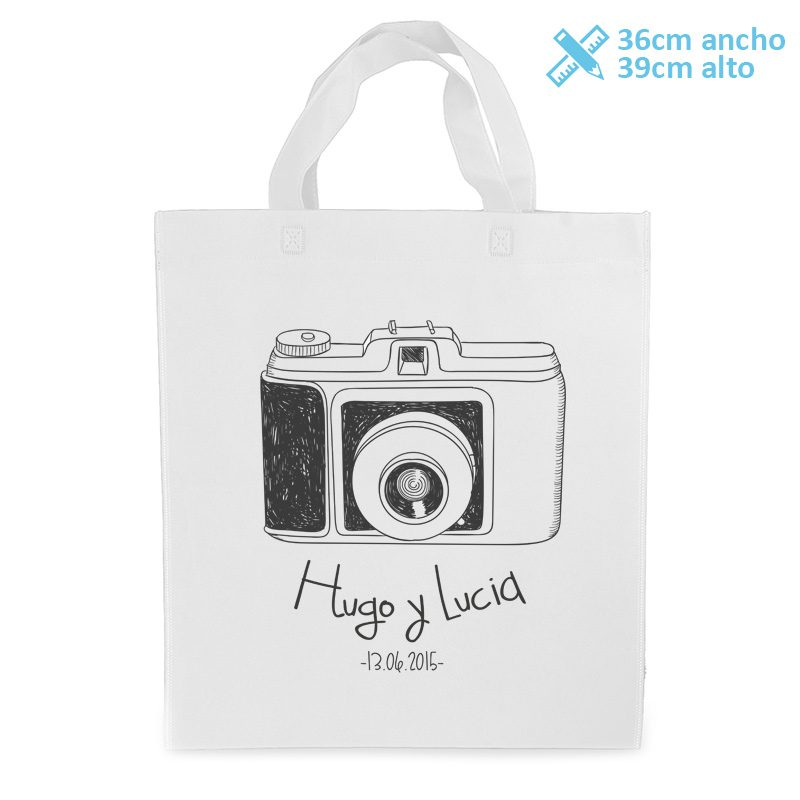 Bolsa personalizada para boda modelo vintage camera