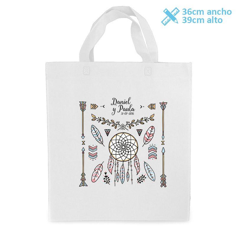 bolsa personalizada para boda modelo boho
