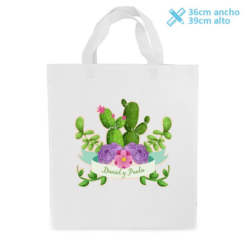 bolsa personalizada para boda modelo centro de cactus