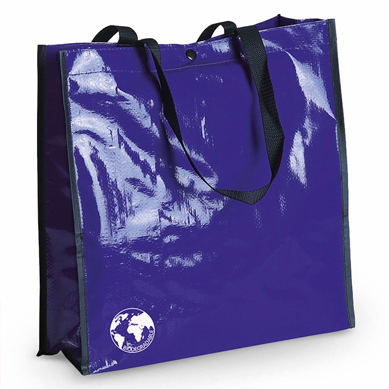 Bolsa biodegradable. Varios colores. Asas reforzadas. Acabado cosido. bolsa recilada detalles boda azul